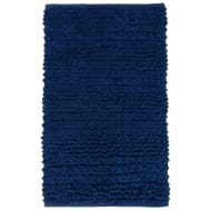 Super Soft Knitted Chenille Bath Mat - Navy
