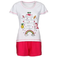 Ladies Short Pyjamas - Unicorns & Rainbows