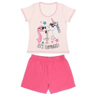Ladies Short Pyjamas - Let's Flamingle