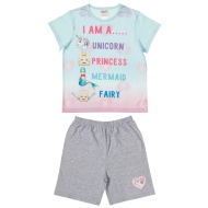 Kids Emoji Shortie Pyjamas - Unicorn