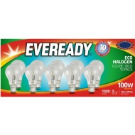 Eveready 100W B22 Eco Halogen Bulb 10pk