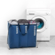 Beldray Triple Laundry Hamper - Blue