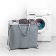 Beldray Triple Laundry Hamper - Grey