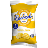 Seabrook Crisps 6pk - Cheese & Onion