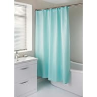 Diamante Shower Curtain with Hooks - Aqua