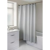 Diamante Shower Curtain with Hooks - Grey