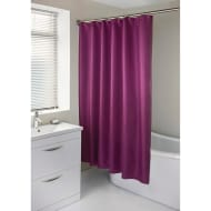 Diamante Shower Curtain with Hooks - Plum