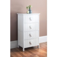 Karina Heart 4 Drawer Chest - White