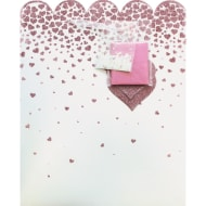Occasions Gift Bag - Glitter Hearts
