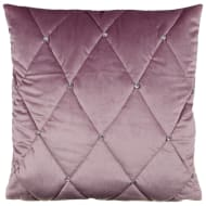 Frances Oversized Diamante Quilted Cushion - Mauve