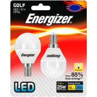 Energizer LED 25W E14 Golf Bulb 2pk