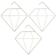 Metal Accessory Hanger - Diamond