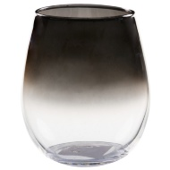 Coloured Glass Tumbler - Silver