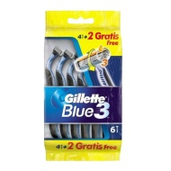 Gillette Blue 3 Razors 4 + 2 Free