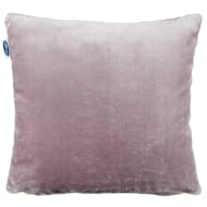 Silentnight Oversized Glossy Faux Fur Cushion - Mauve