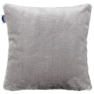 Silentnight Oversized Glossy Faux Fur Cushion - Silver