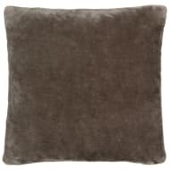 Silentnight Oversized Glossy Faux Fur Cushion - Stone