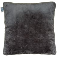 Silentnight Oversized Glossy Faux Fur Cushion - Charcoal