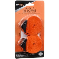 RAC Buckle Tie Downs 2.5m 2pk