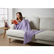 Knitted Mermaid Tail Blanket - Lilac