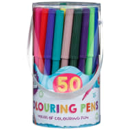 Hobby World Colour Felt Tip Pens 50pk