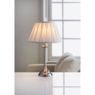 Oxford Reeded Table Lamp - Brushed Silver