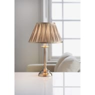 Oxford Reeded Table Lamp - Antique Brass