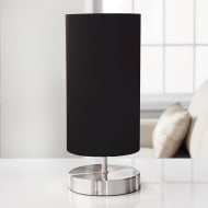Florence Satin Table Lamp - Black