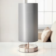 Florence Satin Table Lamp - Silver