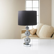 Ella Mosaic Table Lamp - Black