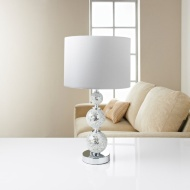 Ella Mosaic Table Lamp - White