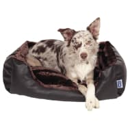 RSPCA Rectangular Luxury Faux Leather Bed