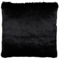 Gabriella Faux Fur Mink Back Cushion - Black