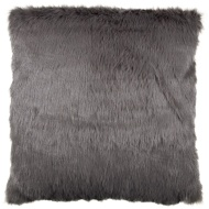 Gabriella Faux Fur Mink Back Cushion - Charcoal