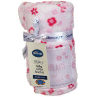 Silentnight Baby Badge Blanket - Pink Floral