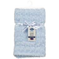 Silentnight Rosebud Faux Fur Baby Blanket - Blue