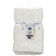 Silentnight Rosebud Faux Fur Baby Blanket - Cream