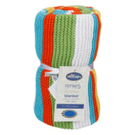 Silentnight Striped Knitted Blanket - Bright