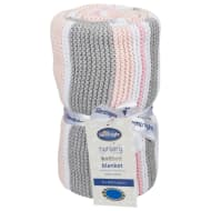 Silentnight Striped Knitted Blanket - Pink