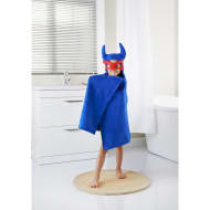 Kids Hero Hooded Bath Towel - Blue