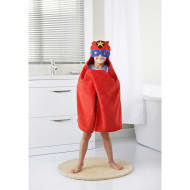 Kids Hero Hooded Bath Towel - Red