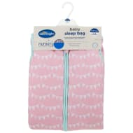 Silentnight Printed Baby Sleep Bag - Pink Bunting