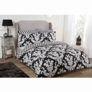 Damask King Duvet Set Twin Pack - Mono