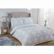 Damask King Duvet Set Twin Pack - Blue