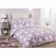 Damask King Duvet Set Twin Pack - Mauve