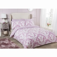 Damask Double Duvet Set Twin Pack - Mauve