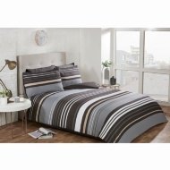 Striped King Duvet Twin Pack - Mono