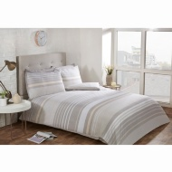 Striped Double Duvet Twin Pack - Natural