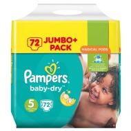 Pampers Baby Dry Nappies 72pk - Size 5