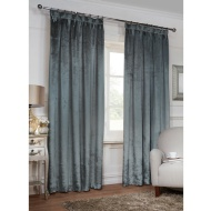 Versailles Crushed Velvet Fully Lined Curtains 46 x 54